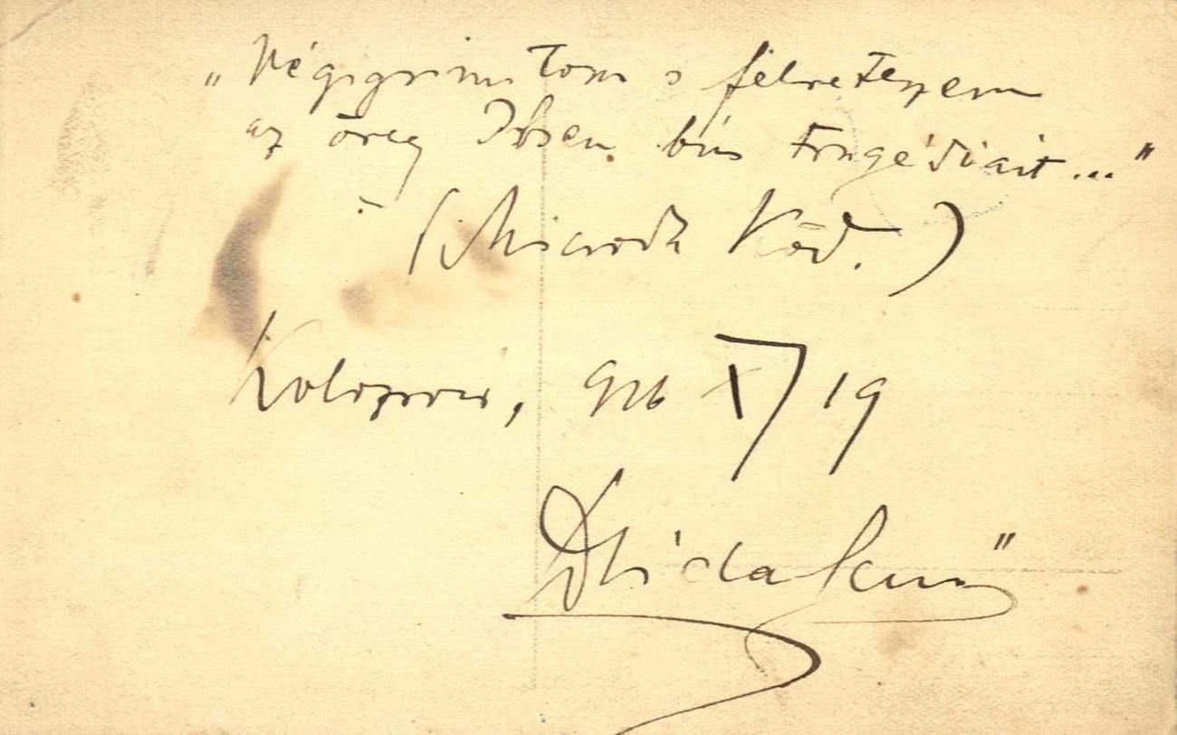 Dsida Jenő kézírása