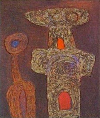 Veress Pál: Öreg bálvány kicsinyével, 1965