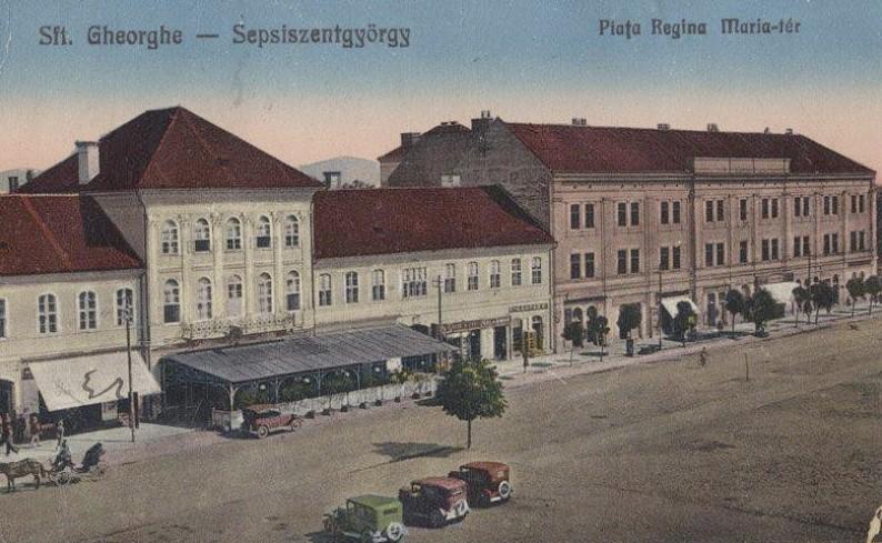 Fő téri vasárnap. Szentgyörgy. 1910 k.