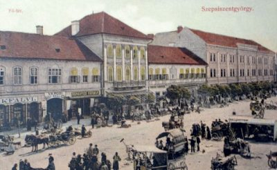 Fő tér, piaccal. Szentgyörgy, 1910