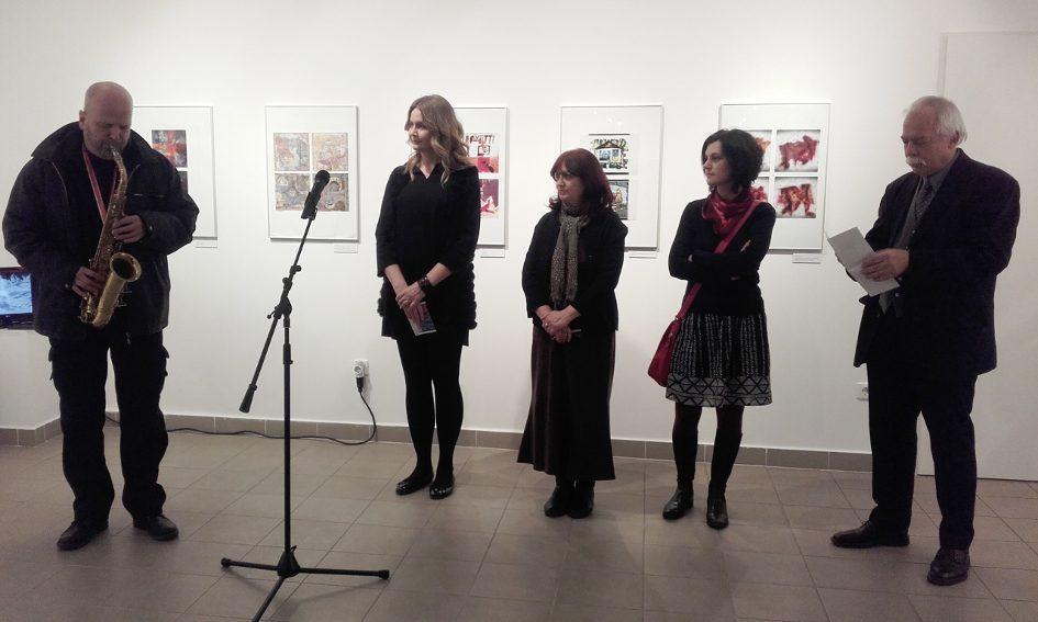 A Matricák 2017 - Digitális alternatívák miniben kiállítás megnyitója (Fotó: Katona Lúcia)