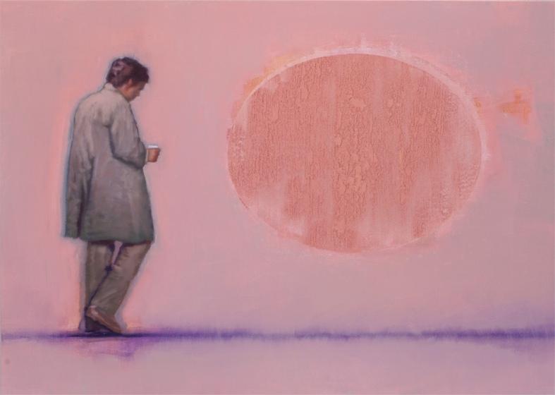 Szűcs Attila: Alak rózsaszín fényben, 2008