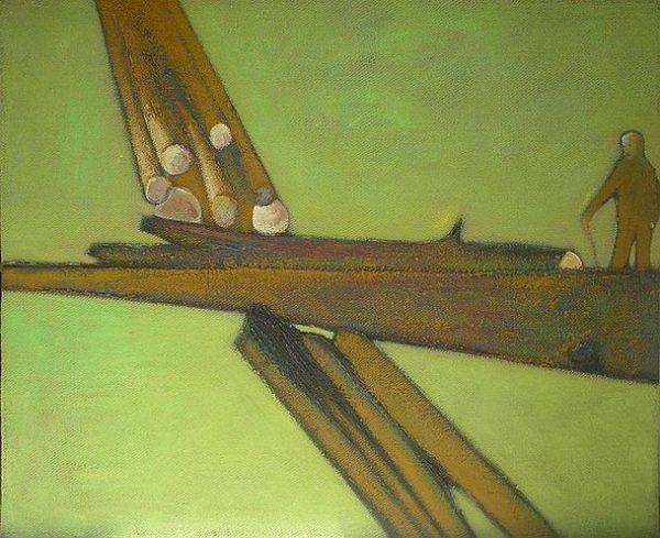 Horváth Levente festménye