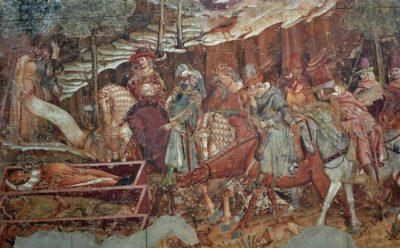 Buonamico Buffalmacco: Memento mori – a halál diadala, 1330-as évek (részlet)