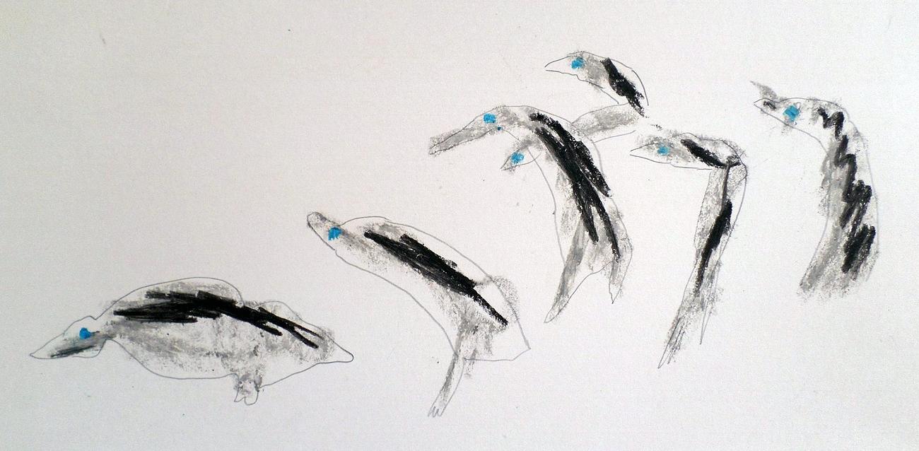 Luigi Zucca: Pingvinek, 2007. (Atelier di pittura Adriano e Michele)