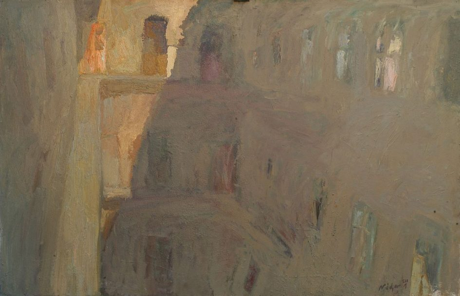 Nádor Tibor: Körfolyosó – Poros nyári fények, 2001