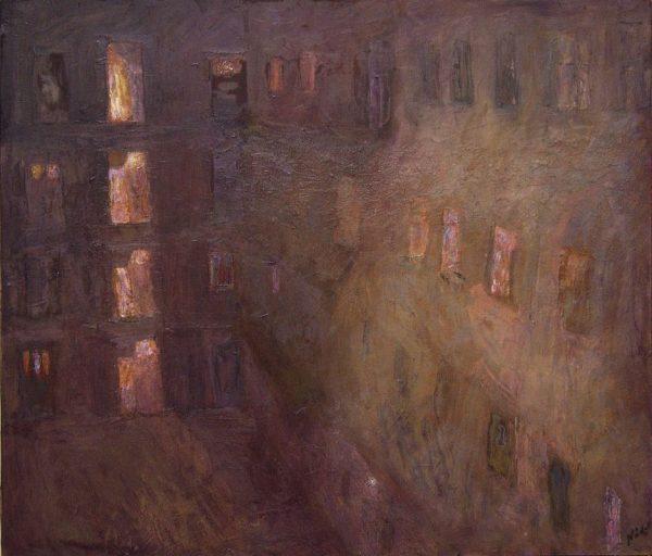 Nádor Tibor: Éjszakai körfolyosó – Cselédlépcső, 2001