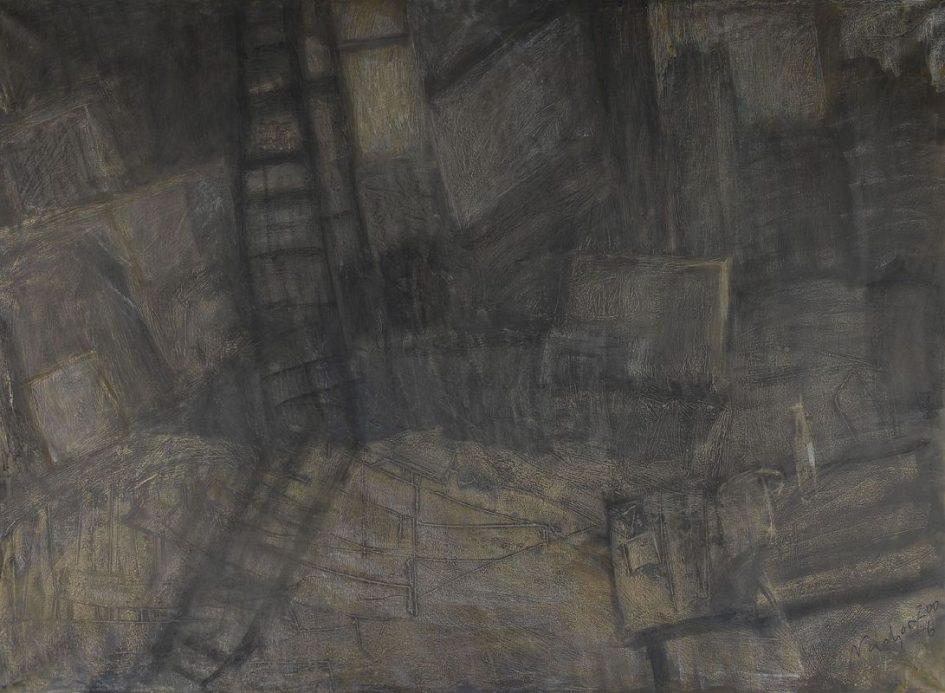 Nádor Tibor: Műterem létrával és csacsiasztallal, 2006