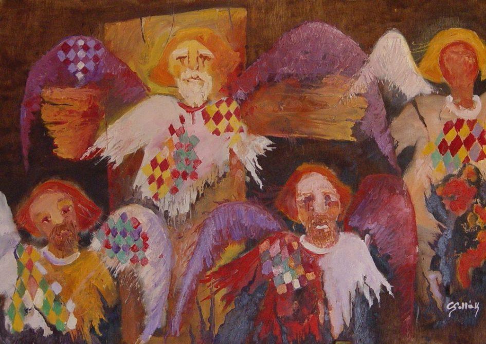 Csollák Mihály festménye