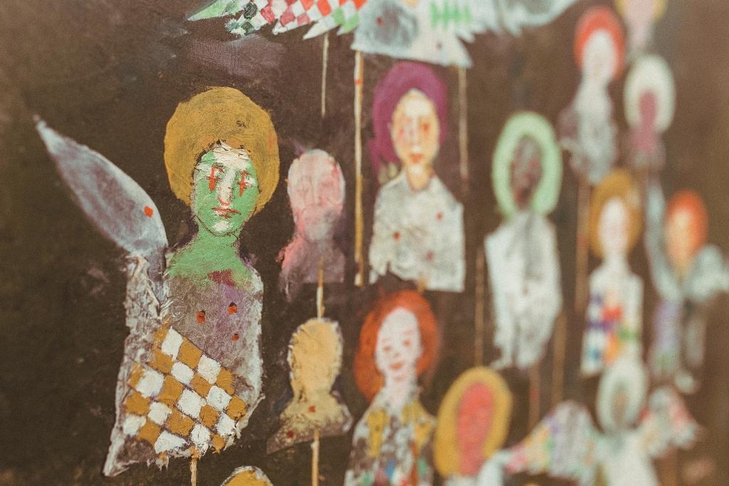 Csollák Mihály festménye - a kiállítás részlete