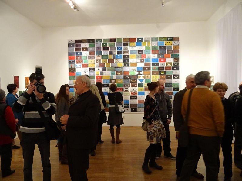 Részlet a Kijáratok című kiállítás megnyitójáról