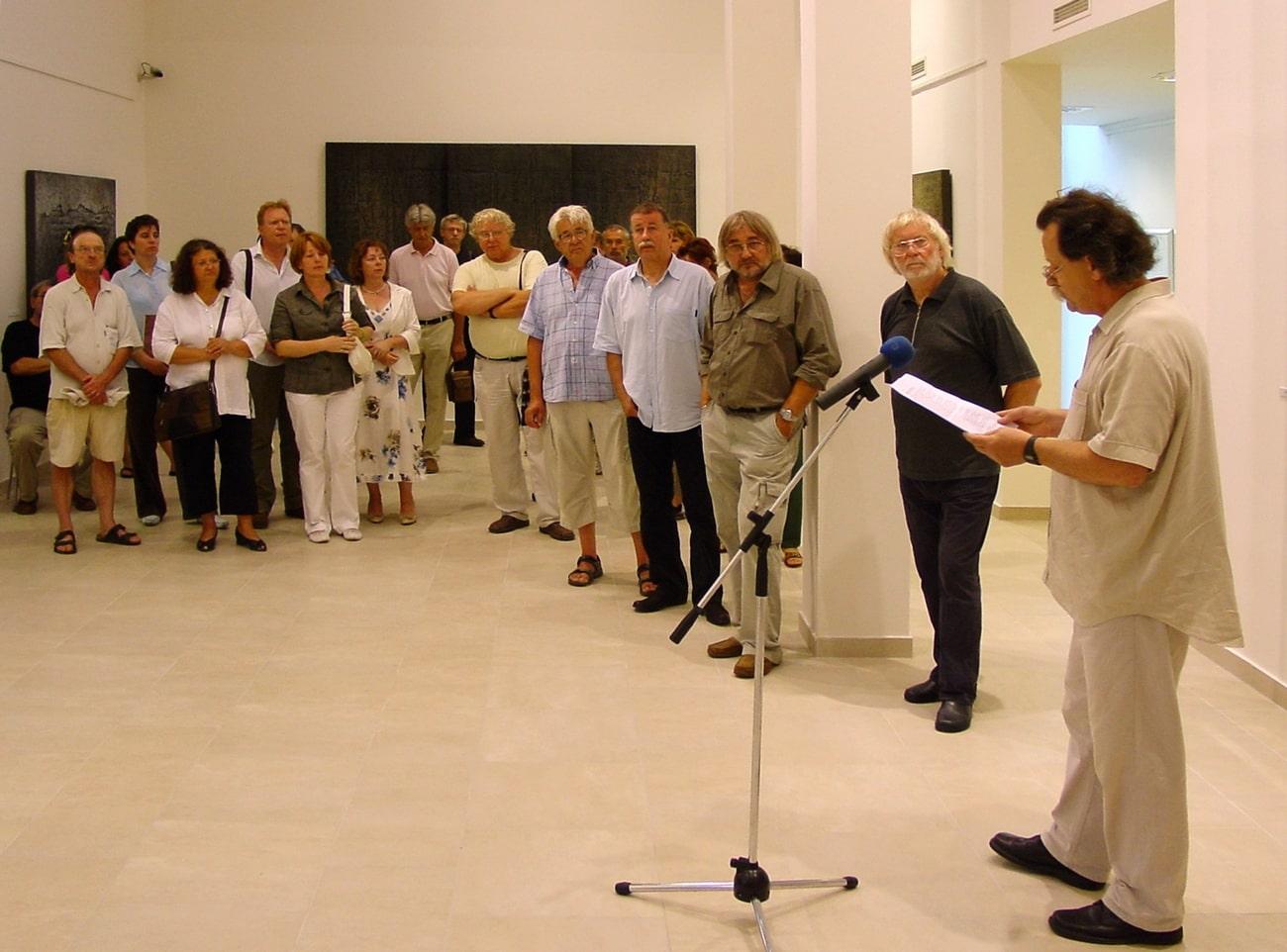 2009, MANK Galéria, Szentendre: Novotny Tihamér megnyitója
