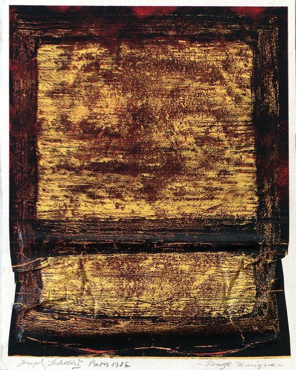 Joseph Kádár (Le K'dar): Gyűrt kép/Tirage Unique No. 1., 1992, art electrographie