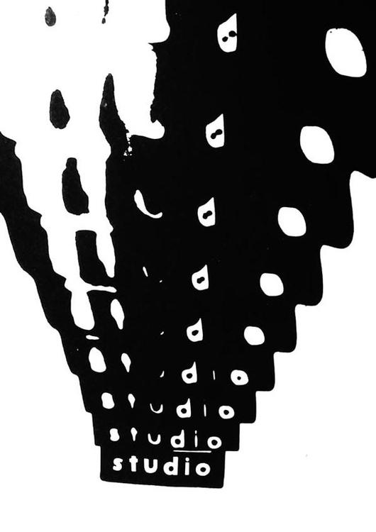 Lévay Jenő: Stúdió, 1987, fénymásolt videógrafika