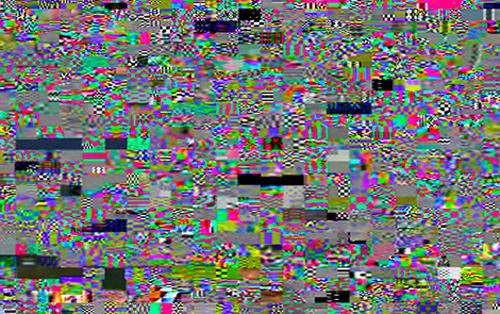 Kecskés Péter: Glitch-Worship (Homage to John and Peter), 2014, digitális print