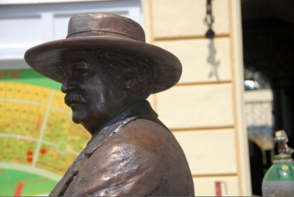 Rippl-Rónai Kaposvár utcáján - Trischler Ferenc szobrának részlete