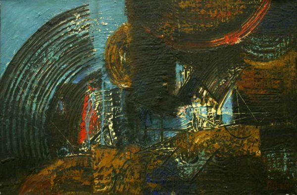 Ács József: Ipari táj, 1960