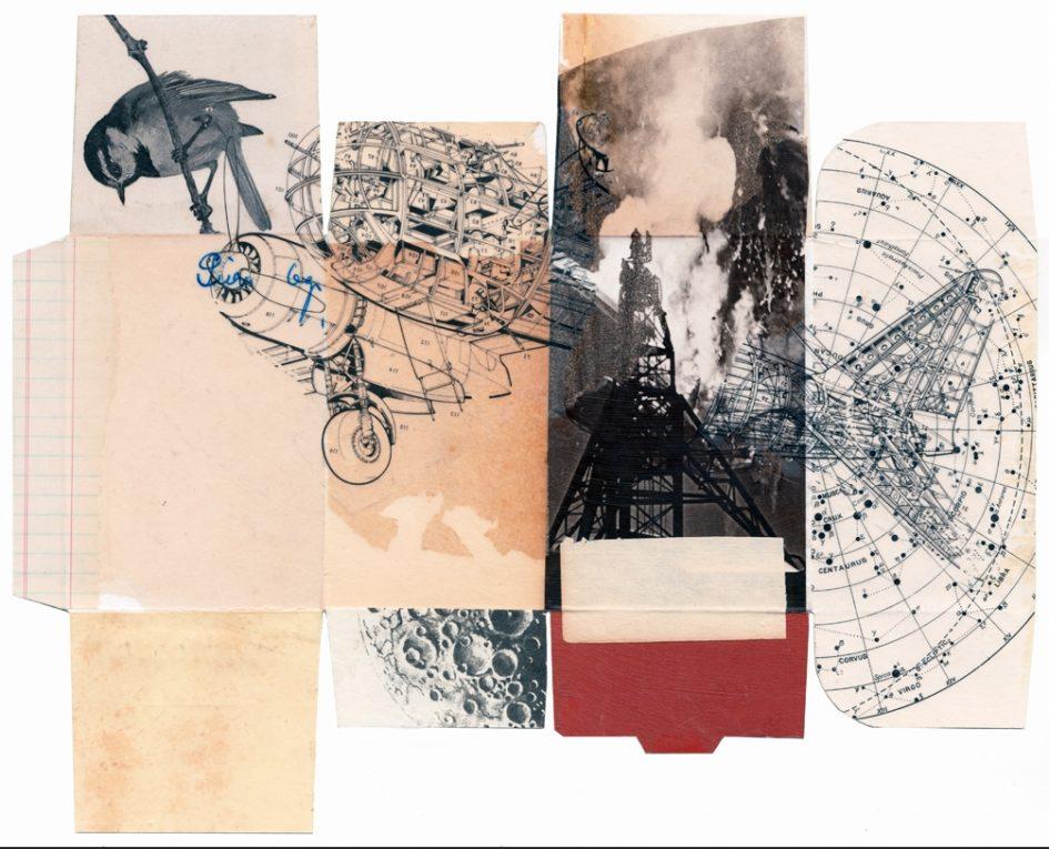 Allan Bealy: Lakehurst (dobozra készült kollázs)