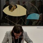 Sziget kiállítás - a megnyitón közreműködött Csuka Ágnes Karolina zongoraművész
