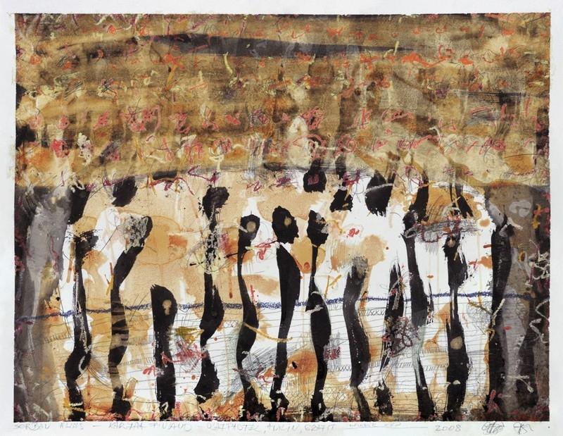 Györgydeák György: Sorban állas – második kép, 2008