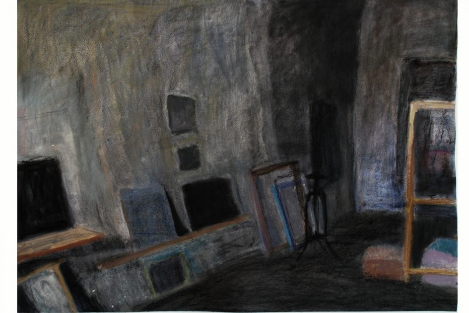 Fischer Balázs: Műterem néger képpel, 2010