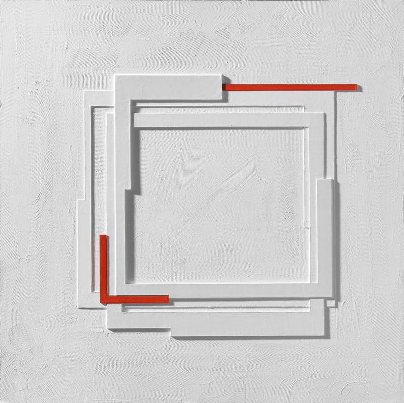 Matzon Ákos: Fehér relief, 2018