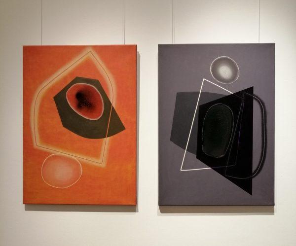 Romvári Márton kiállításának részlete (Kahan Art Space, 2019)