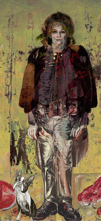 Azbej Kristóf: Álló alak V/b, 2013, digitális festmény és montázs