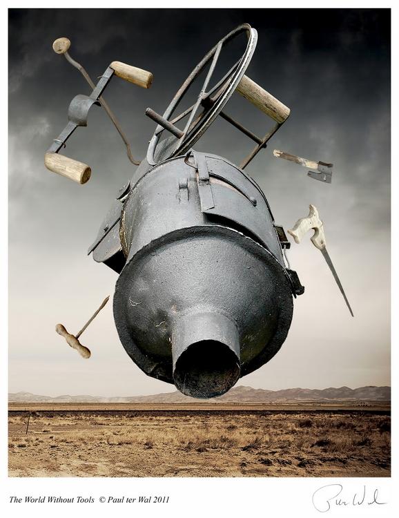 Paul Ter Wal: The World Without Tools / Az eszközök nélküli világ, 2011, digitális fotómontázs